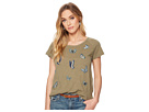 Lucky Brand Embroidered Butterfly Tee