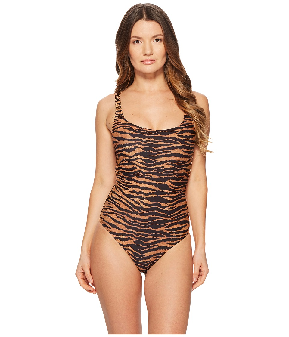 Moschino - Tiger Swimsuit (Brown Multi) Womens Swimsuits One Piece