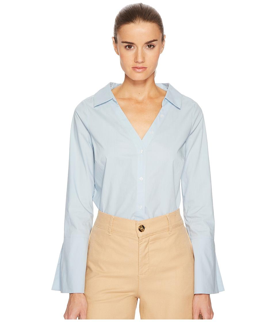 BALDWIN - Mary (Light Blue) Womens Long Sleeve Button Up