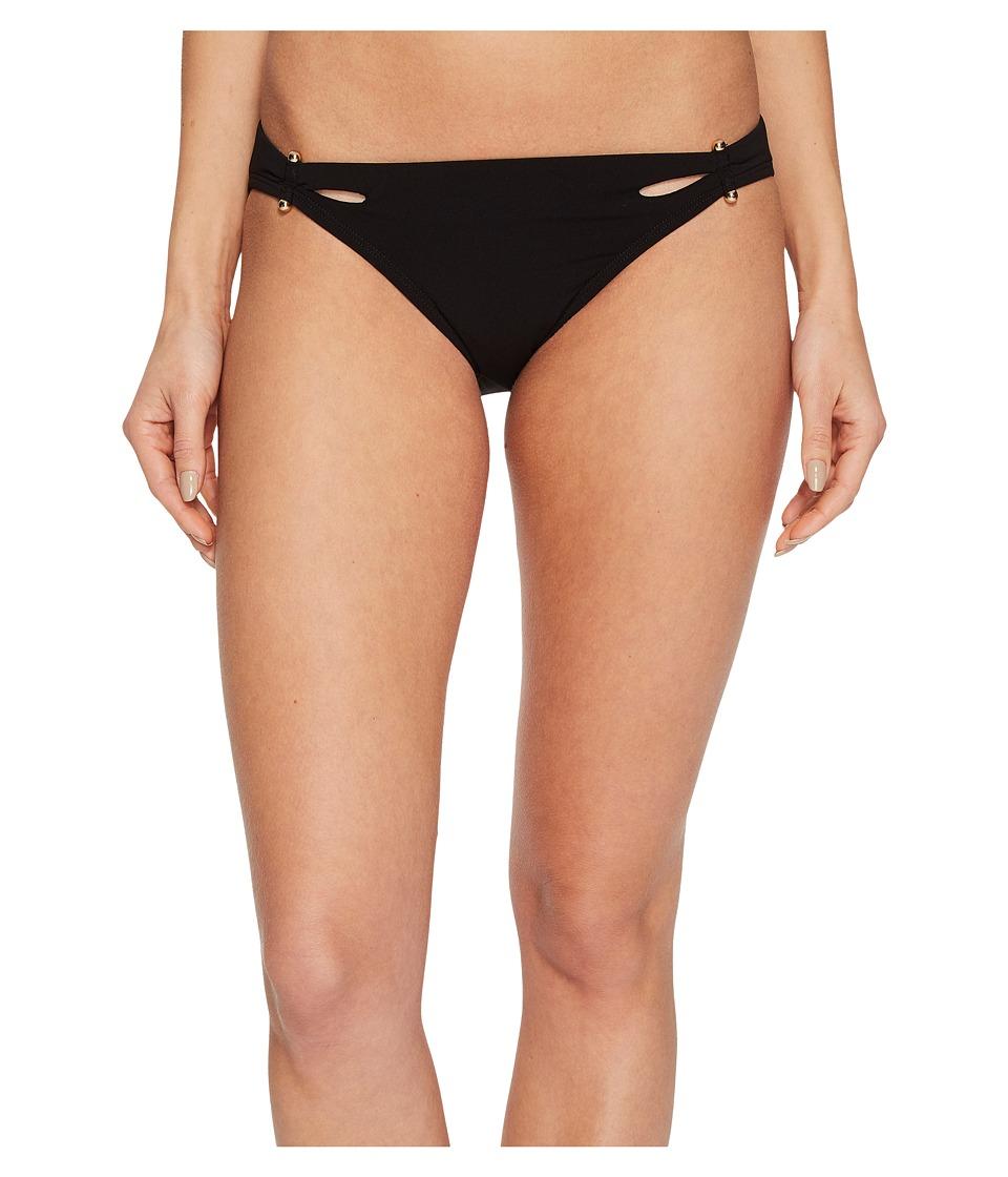 Robin Piccone Luca Cutout Bikini Bottom (Black) Women