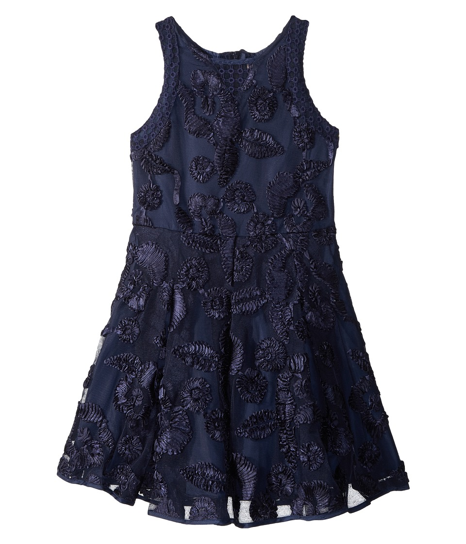 Nanette Lepore Kids - Soutache Mesh Dress (Little Kids/Big Kids) (Navy) Girls Dress