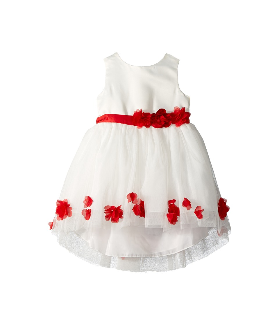 Nanette Lepore Kids - Matte Satin Dress w/ Flowers (Infant) (Off-White) Girls Dress
