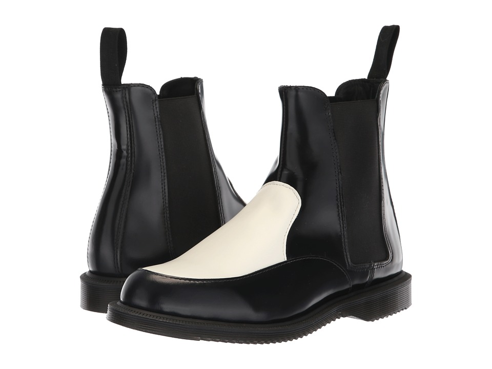 Dr. Martens Aimelya Kensington (Black Polished Smooth/White Smooth)