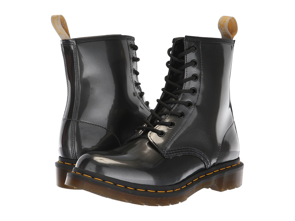 Dr. Martens 1460 Vegan Chrome Vegan (Gunmetal Chrome Paint Metallic)