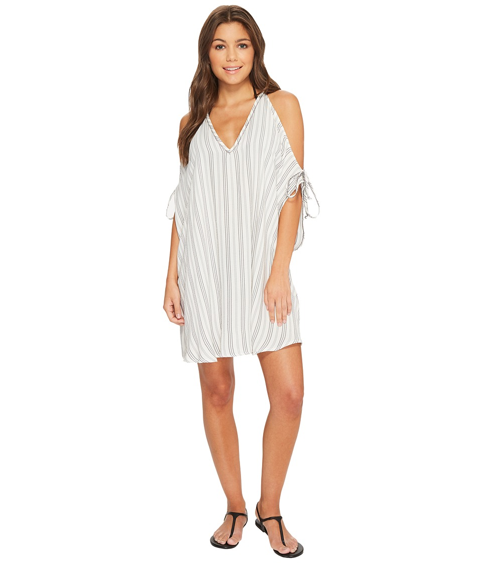 Robin Piccone Norah V-Neck Open Shoulder Tunic Cover-Up 182319-023