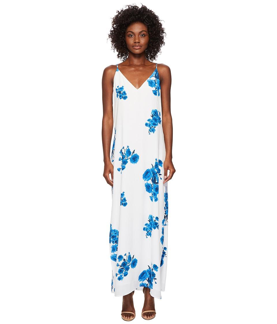 BALDWIN - Frida (Blue Floral Print) Womens Dress