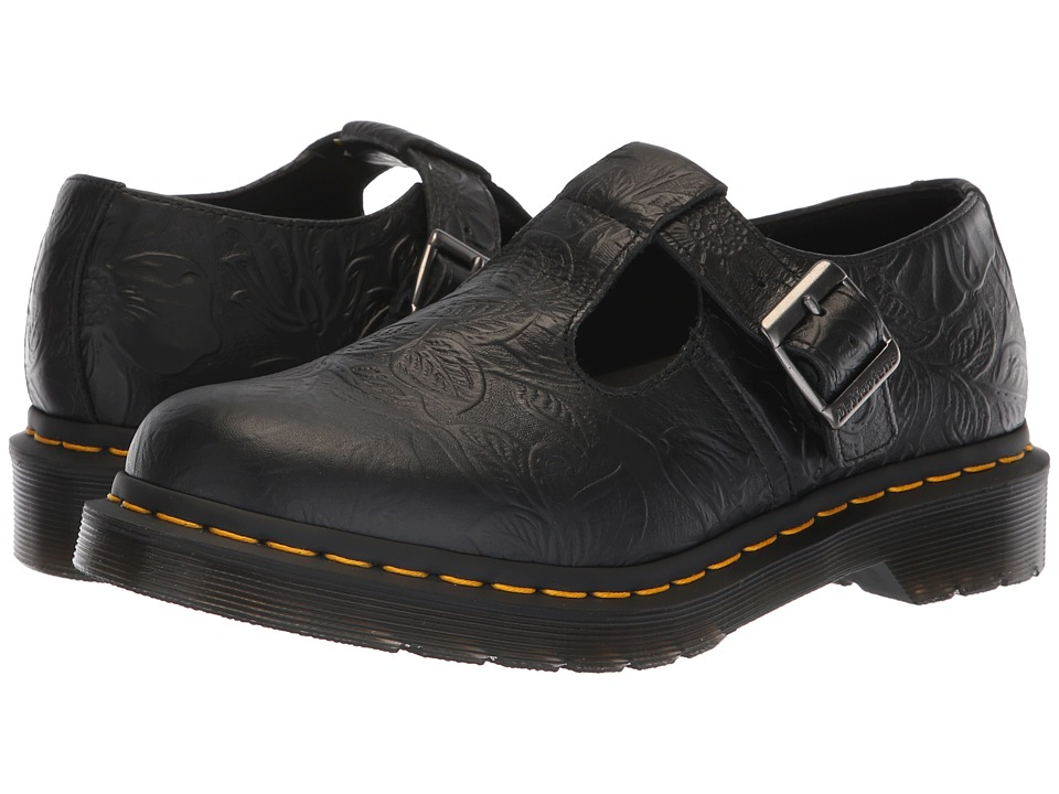 Dr. Martens Polley Emboss Core (Black Floral Emboss) Maryjanes
