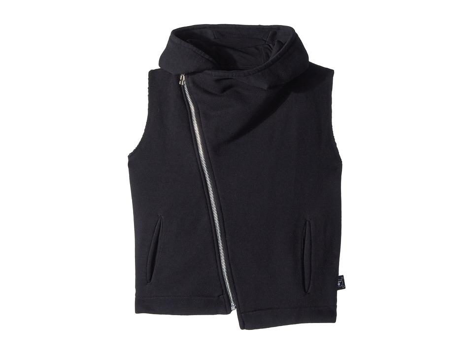 Nununu - Hooded Diagonal Vest (Little Kids/Big Kids) (Bla...