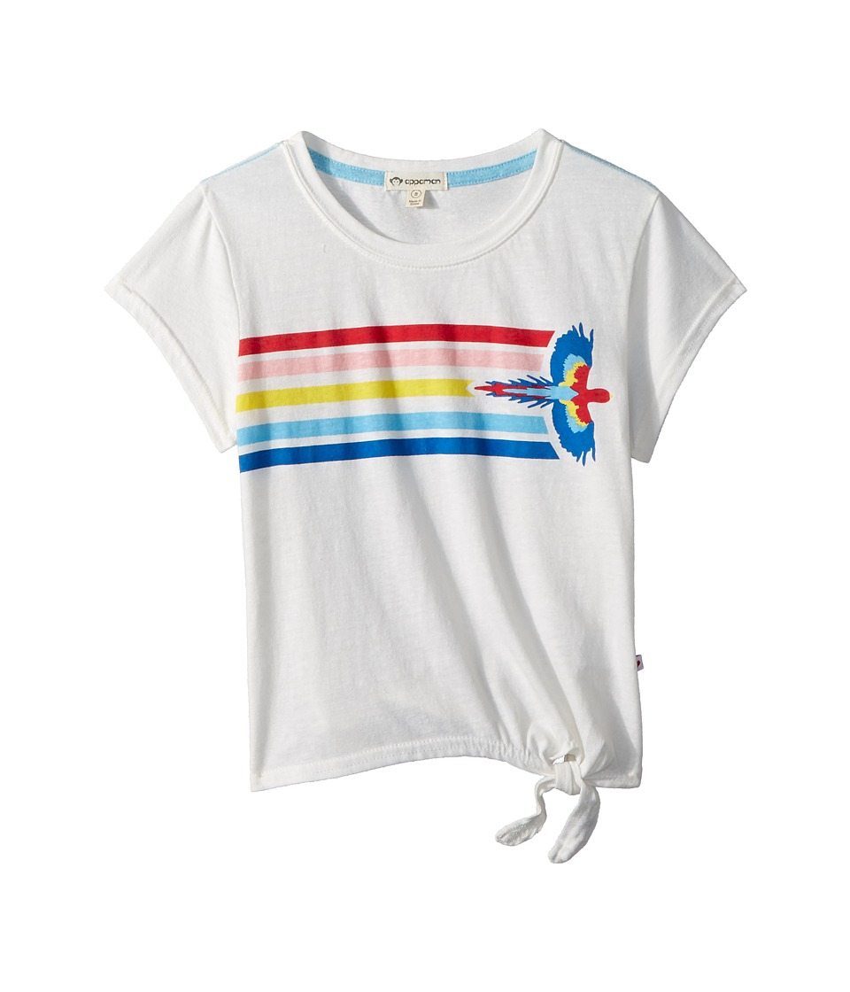 Appaman Kids - Seahorse Print with Bottom Side Knot Phing Tee (Toddler/Little Kids/Big Kids) (White) Girls T Shirt