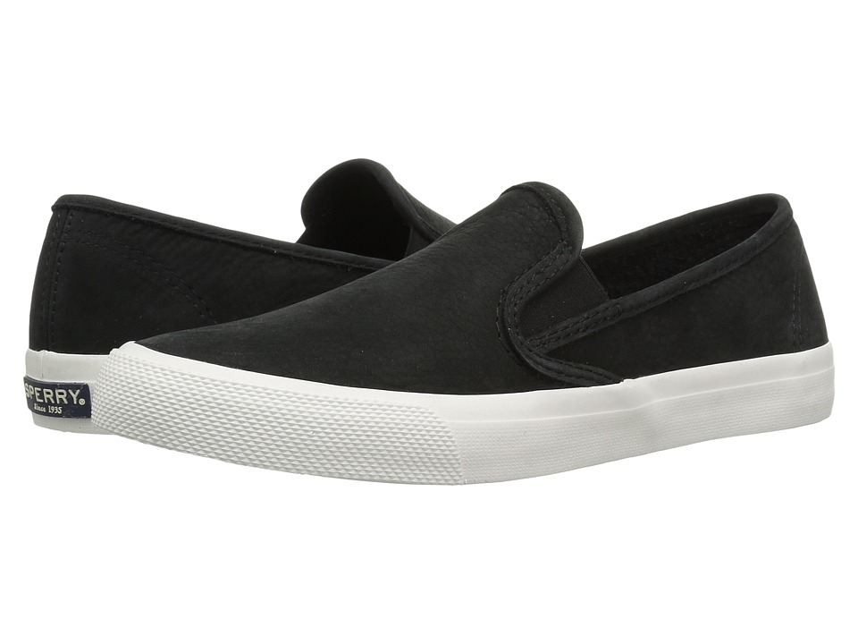 Sperry Seaside Washable (Black) Slip-On Shoes