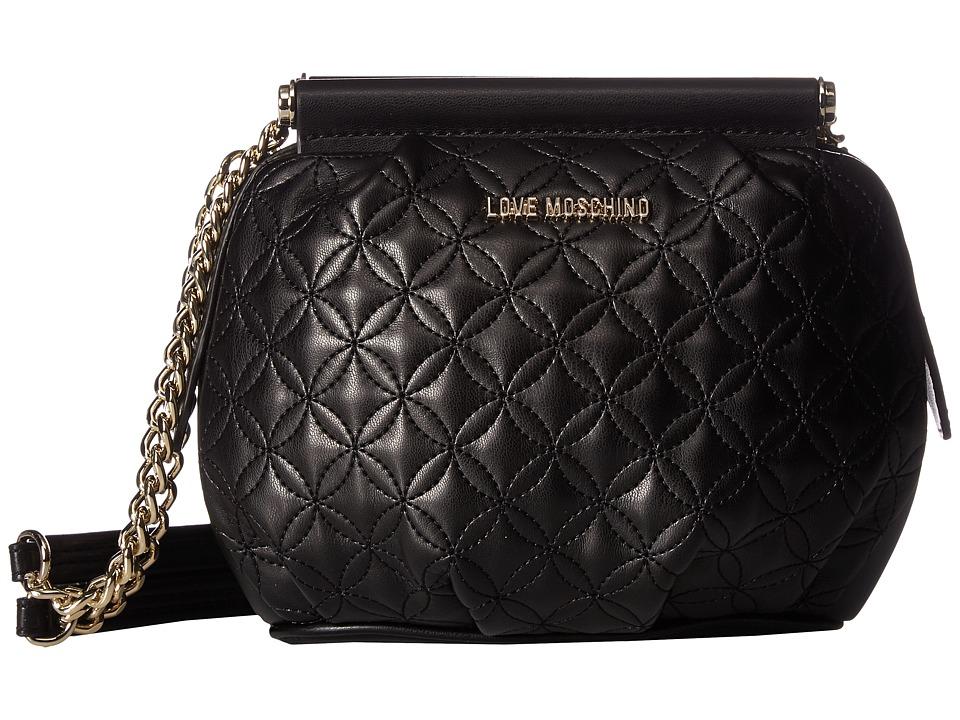 LOVE Moschino - Quilted Shoulder Bag (Fantasy Black/Gold Chain) Shoulder Handbags