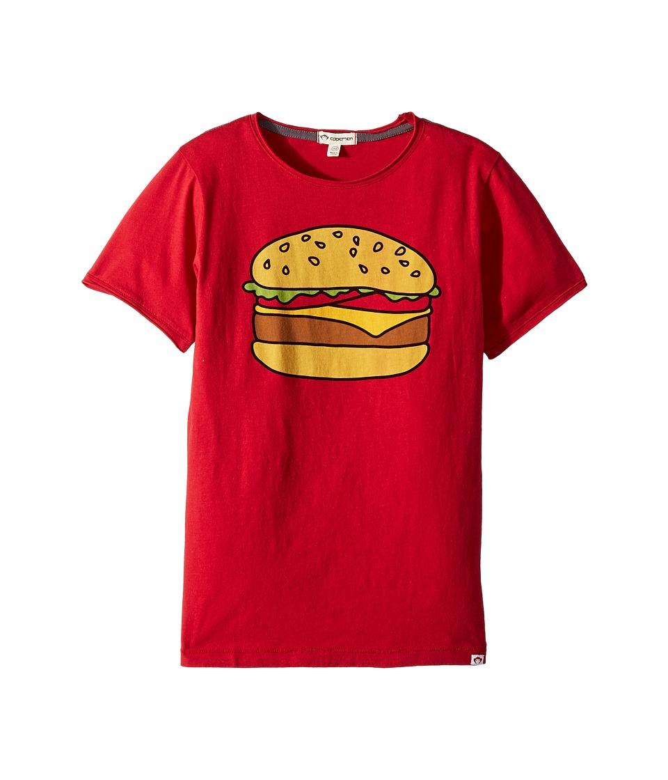 Appaman Kids - Hamburger Graphic Tee (Toddler/Little Kids/Big Kids) (Chilli Pepper) Boys T Shirt