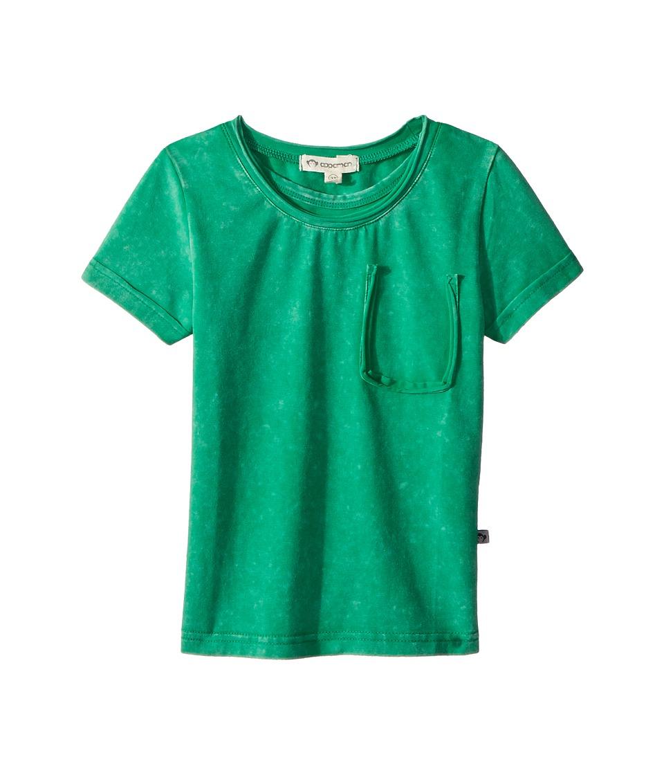 Appaman Kids - Extra Soft Faux Pocket Chroma Tee (Toddler/Little Kids/Big Kids) (Green Wash) Boys T Shirt
