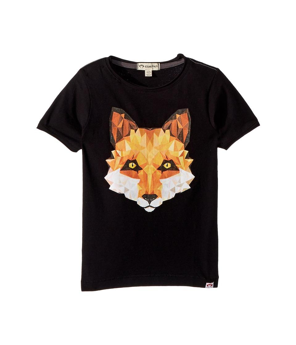 Appaman Kids - Geo Fox Graphic Tee (Toddler/Little Kids/Big Kids) (Black) Boys T Shirt