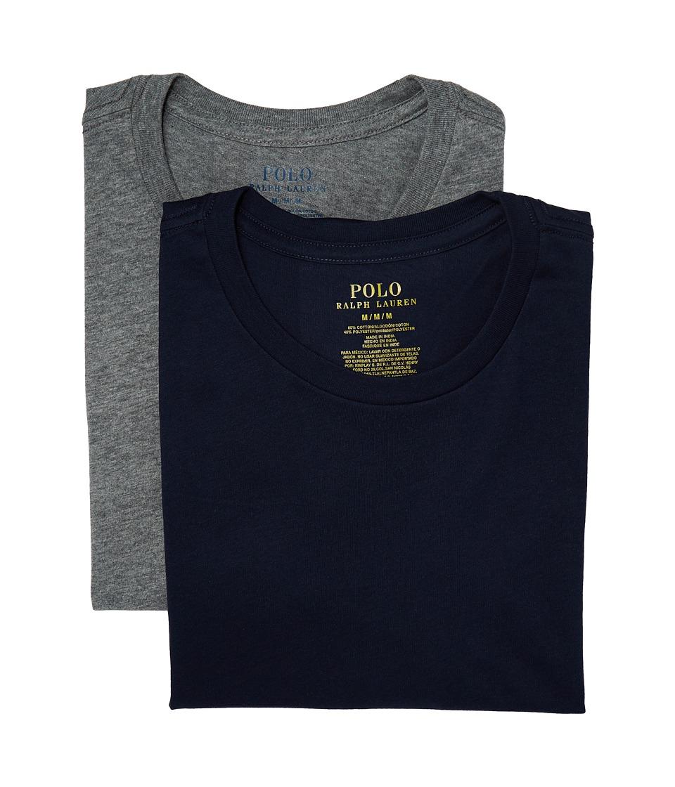 Polo Ralph Lauren 2-Pack Cotton Comfort Crew (Cruise Navy/Andover Heather) Men
