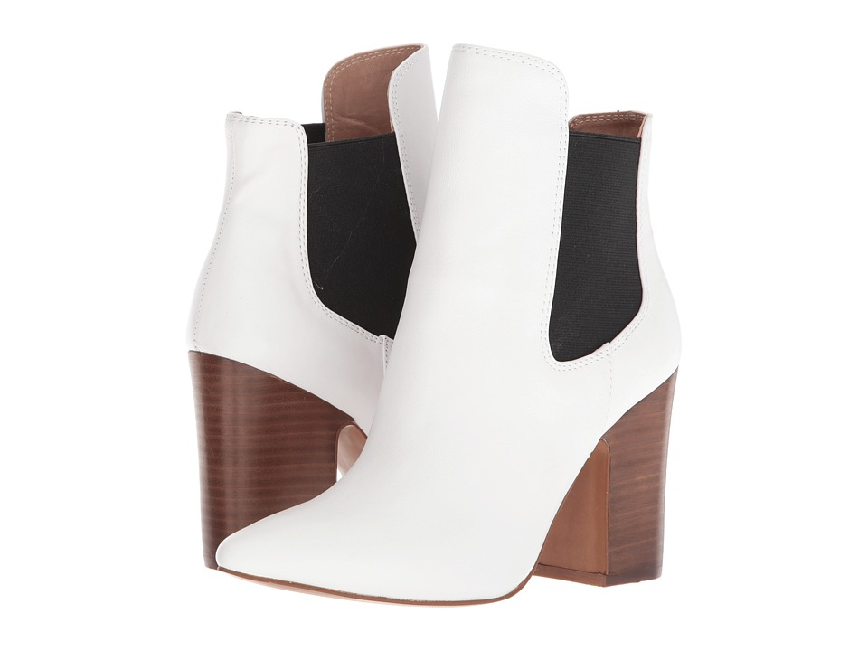Kristin Cavallari Starlight Bootie (Black/White Smooth) Women's Dress Boots