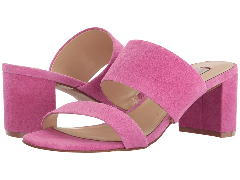 Kristin Cavallari Lakeview Slide Sandal (Fuchsia Kid Suede) 1-2 inch heel Shoes