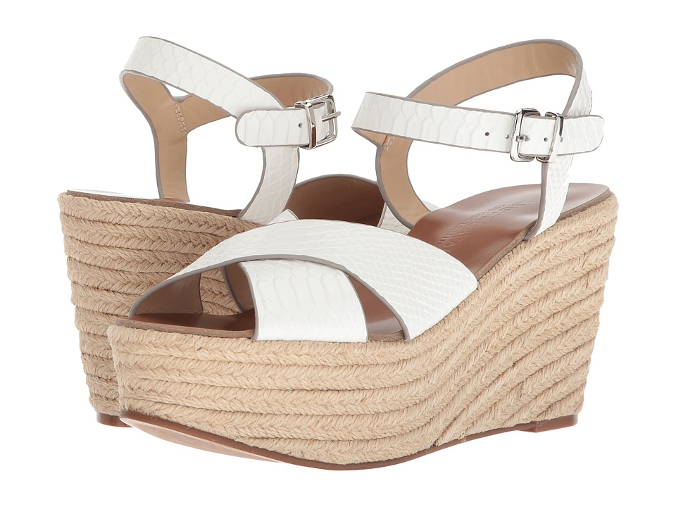 Kristin Cavallari Mikah Espadrille Wedge (White Snake Leather) Wedges