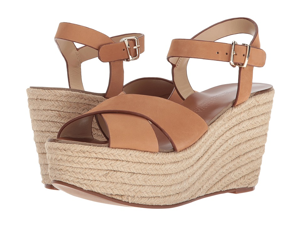 Kristin Cavallari Mikah Espadrille Wedge (Camel Leather) Wedges