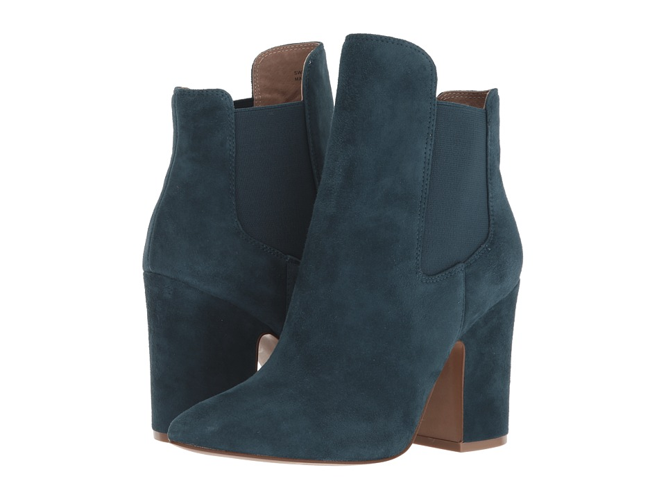 Kristin Cavallari Starlight Bootie (Teal Kid Suede) Women's Dress Boots