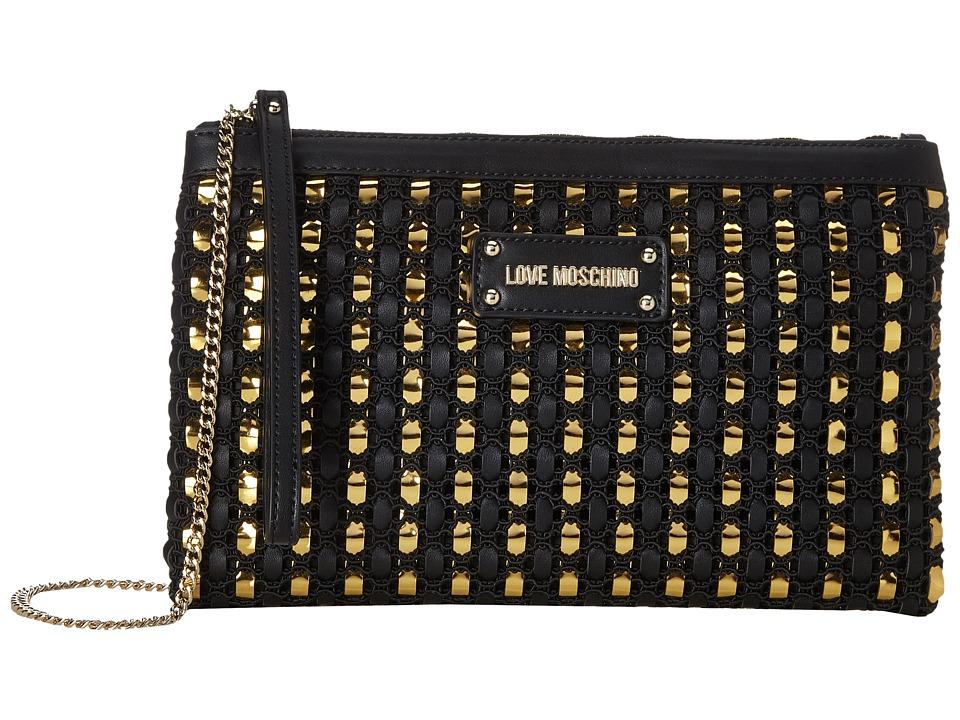 LOVE Moschino - Crossbody Chain Strap (Fantasy Black) Cross Body Handbags