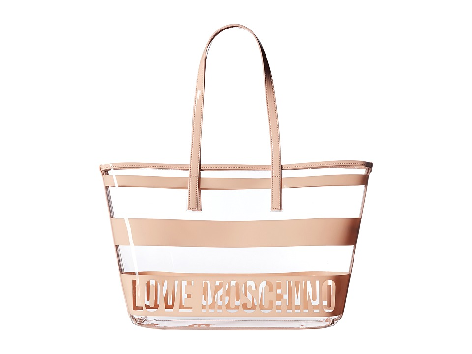 LOVE Moschino - Transparent Tote (Pink) Tote Handbags
