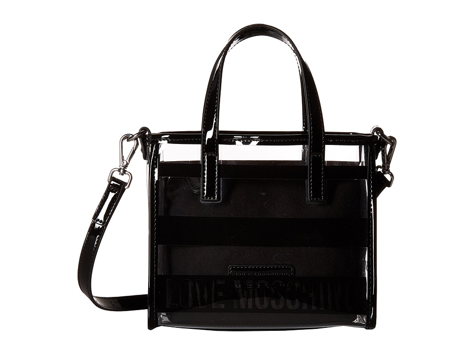 LOVE Moschino - Transparent Mini Tote (Black) Tote Handbags