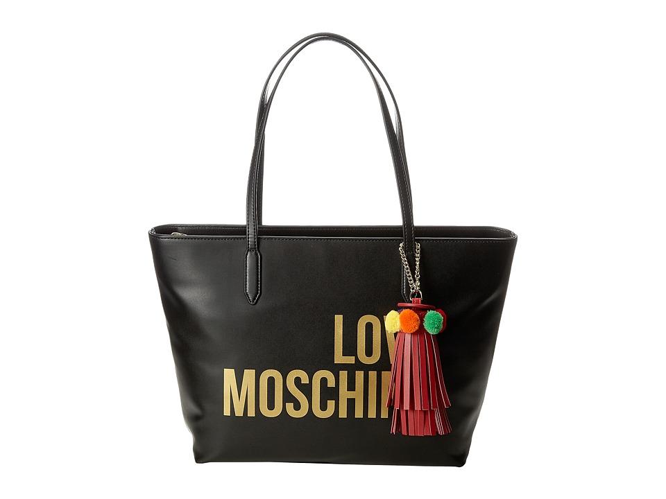 LOVE Moschino - Love Moschino Tote w/ Tassel (Black) Tote Handbags