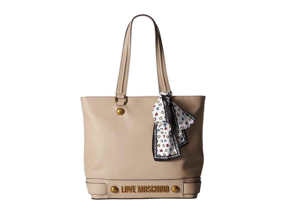 LOVE Moschino - Tote with Love Moschino Scarf (Dove) Tote Handbags