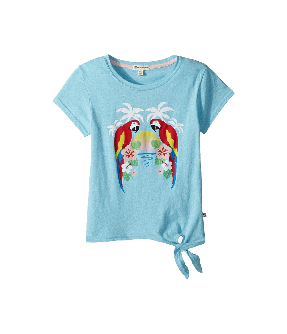 Appaman Kids - Parrot Bay Phing Tee (Toddler/Little Kids/Big Kids) (Bayside Heather) Girls T Shirt