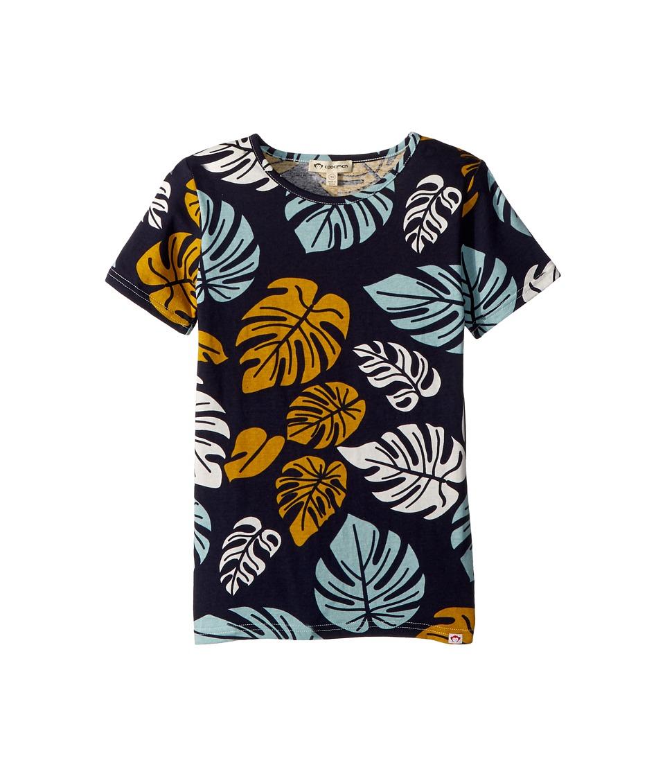 Appaman Kids - Tropical Leaf Printed Tee (Toddler/Little Kids/Big Kids) (Monstera) Boys T Shirt
