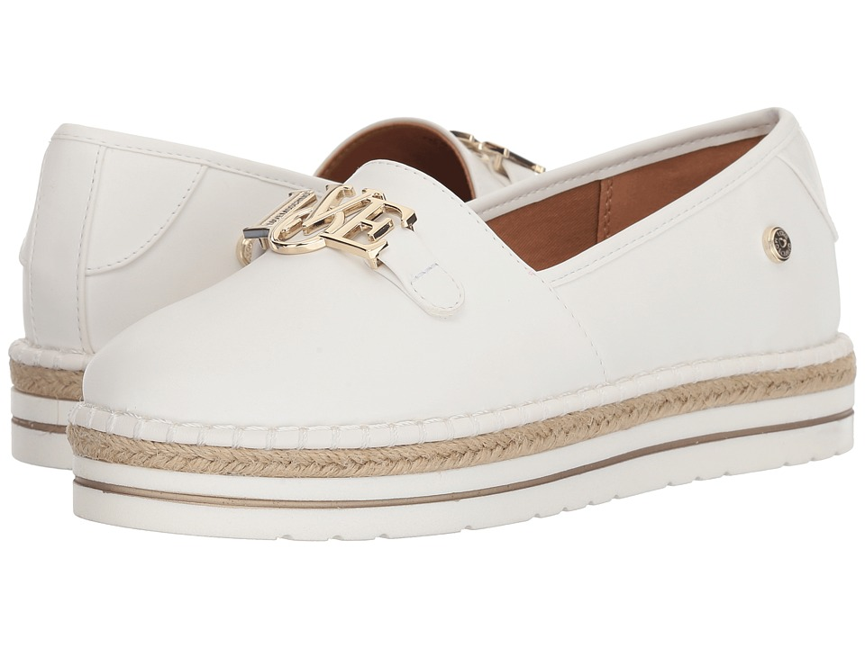 LOVE Moschino - Espadrille w/ Gold Details (White) Womens Shoes