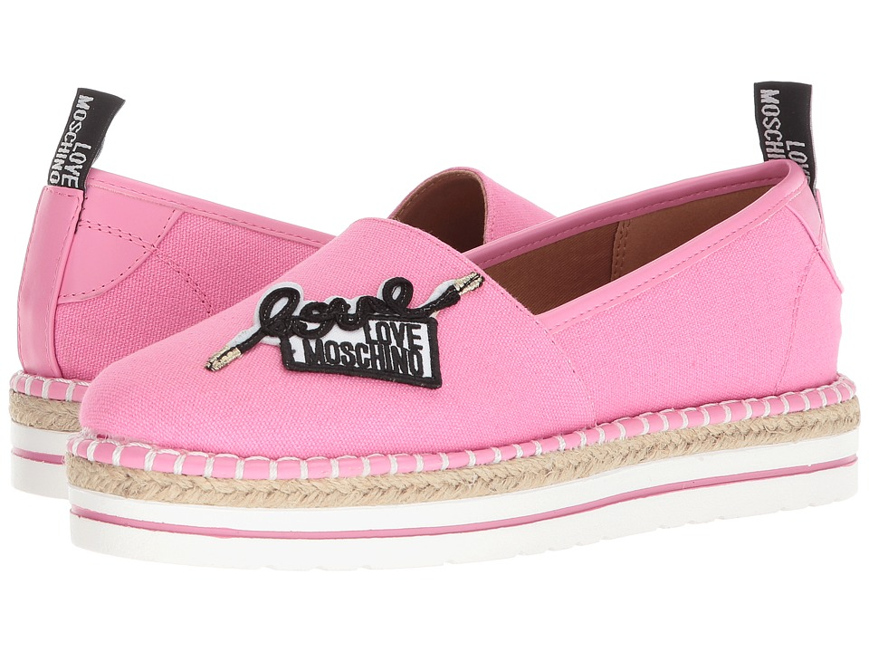 LOVE Moschino - Canvas Espadrille (Pink) Womens Shoes
