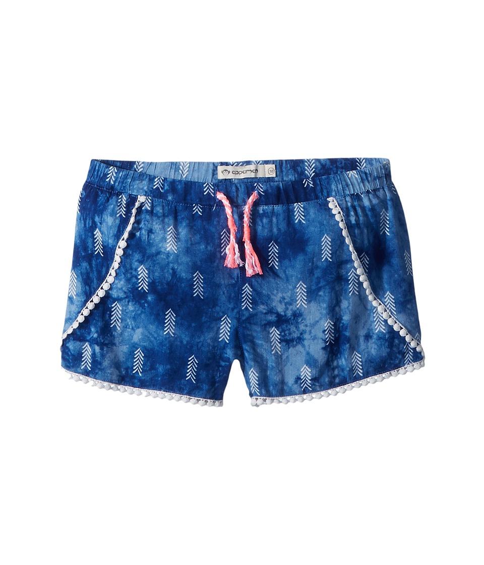 Appaman Kids - Extra Soft Tie-Dye Tao Shorts (Toddler/Little Kids/Big Kids) (Ocean Arrow) Girls Shorts
