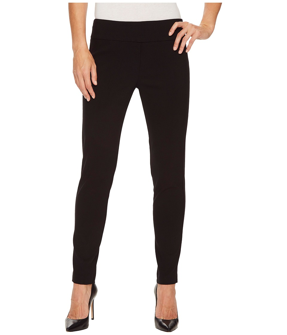 Elliott Lauren - Control Stretch Pull-On Ankle Pants with Back Slit Detail (Black) Womens Casual Pants