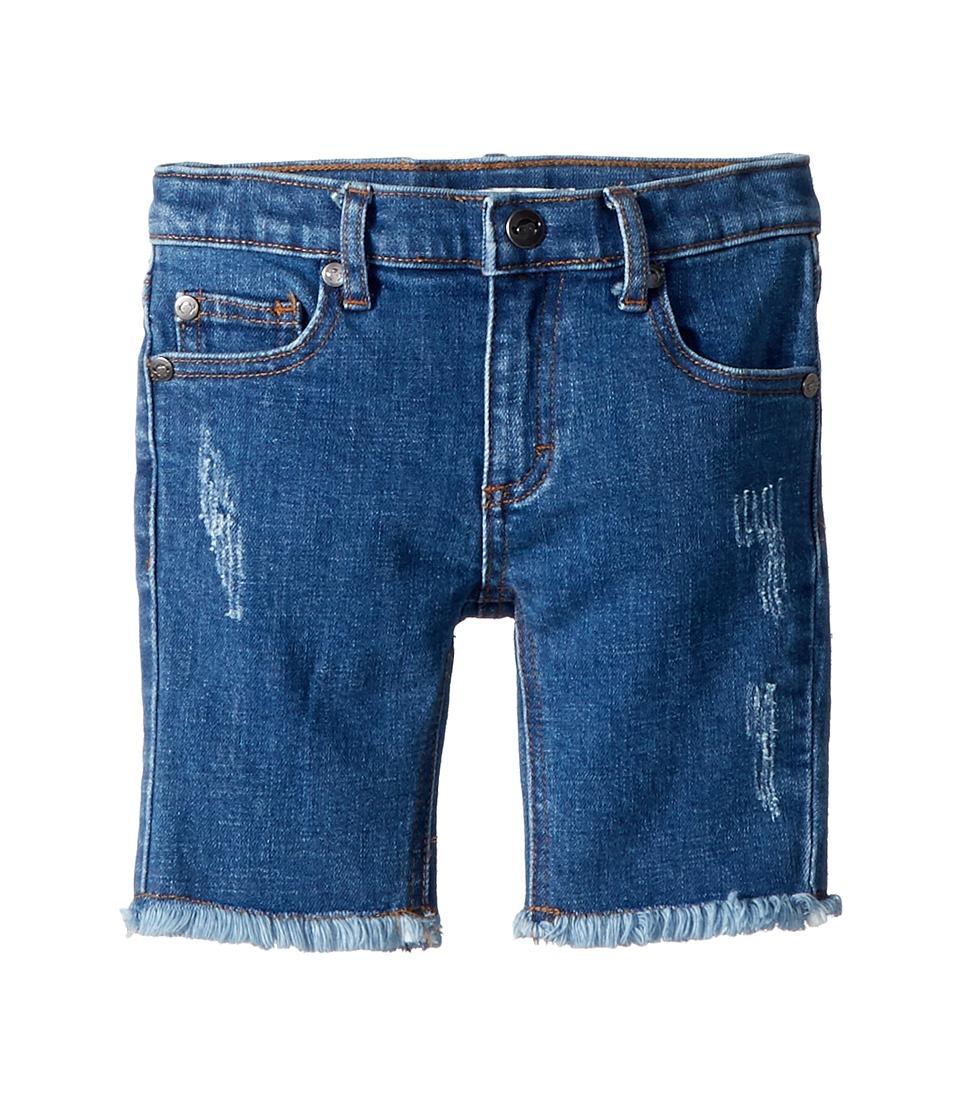 Appaman Kids - Rainbow Jean Shorts (Toddler/Little Kids/Big Kids) (Medium Blue Wash) Girls Shorts