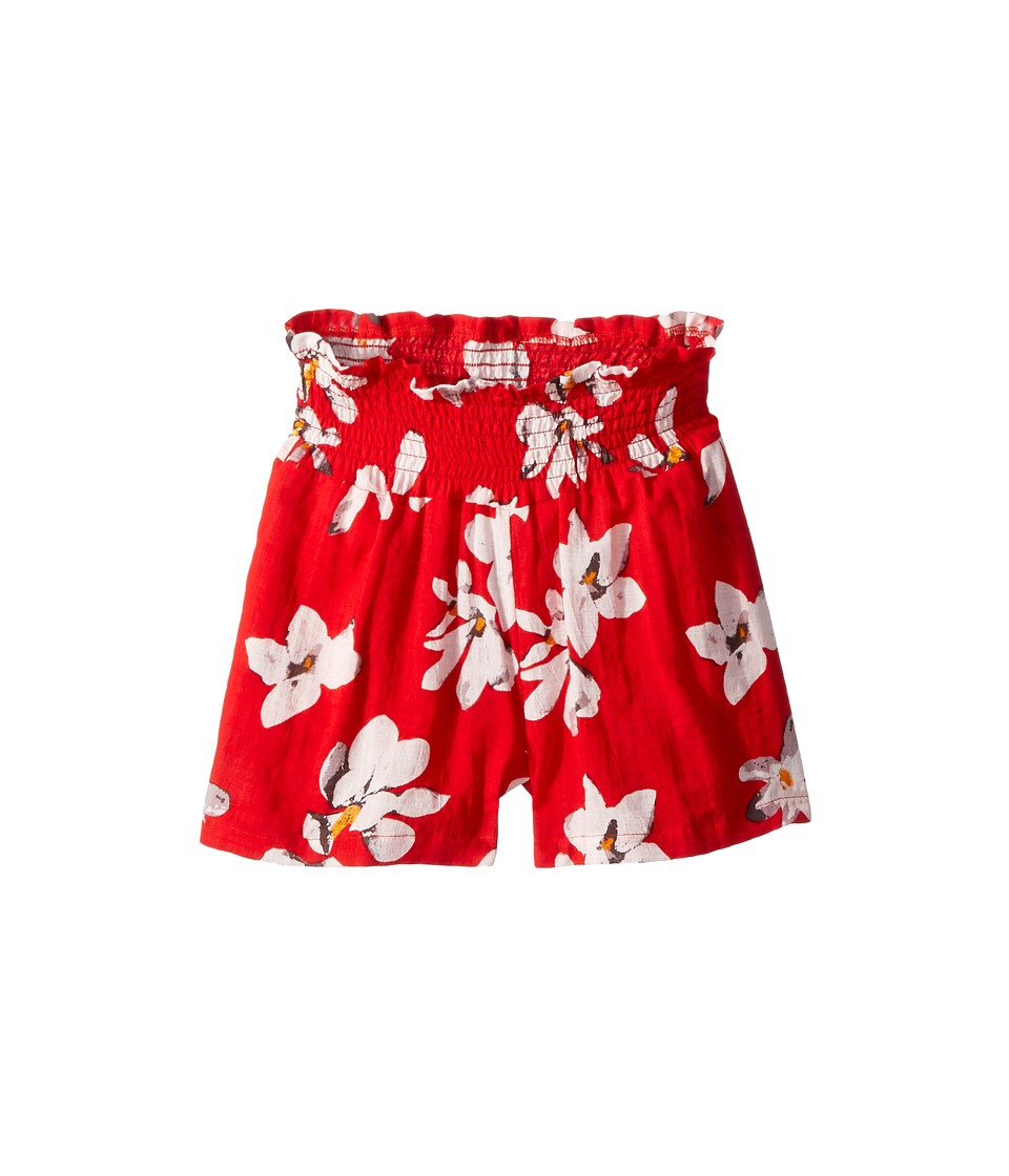 Appaman Kids - All Over Tropical Flower Print with Elastic Ruched Waist Malibu Shorts (Toddler/Little Kids/Big Kids) (Tiare) Girls Shorts