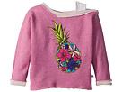 Appaman Kids Appaman Kids Ulta Soft Flower Pineapple Off Shoulder Sweatshirt (Toddler/Little Kids/Big Kids)