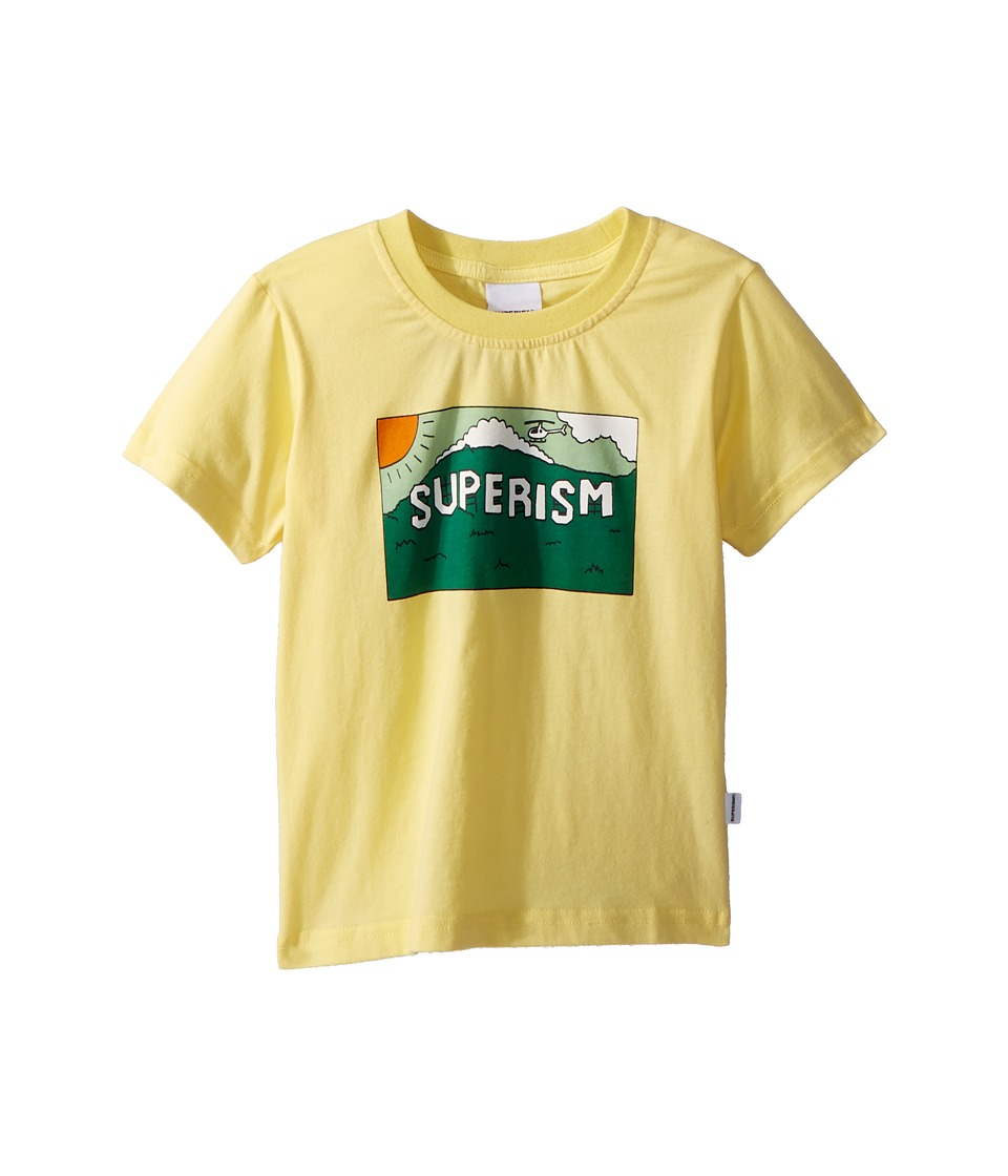 SUPERISM - Superism Mountain Short Sleeve Tee (Toddler/Little Kids/Big Kids) (Yellow) Boys T Shirt