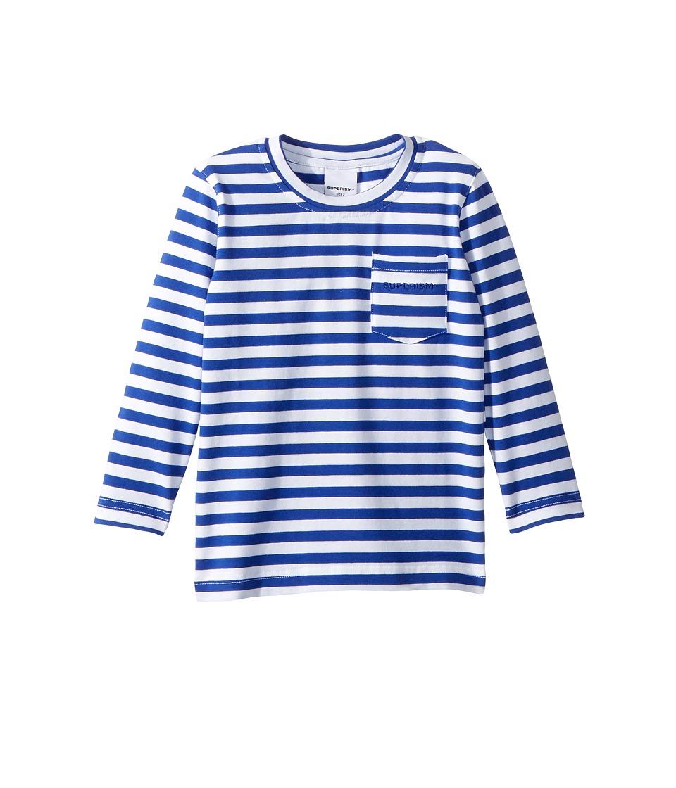 SUPERISM - Bowie Long Sleeve Tee (Toddler/Little Kids/Big Kids) (Blue) Boys T Shirt