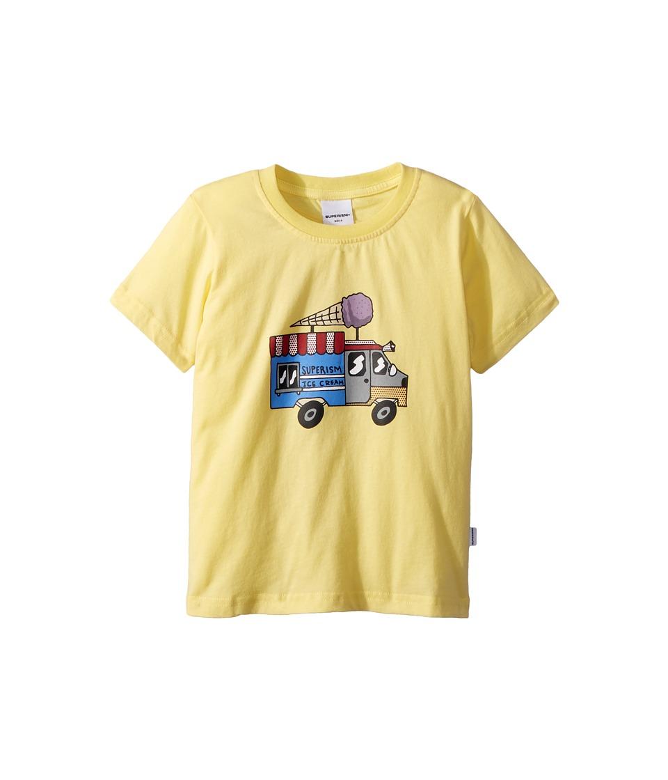 SUPERISM - Ice Cream Truck Short Sleeve Tee (Toddler/Little Kids/Big Kids) (Yellow) Boys T Shirt