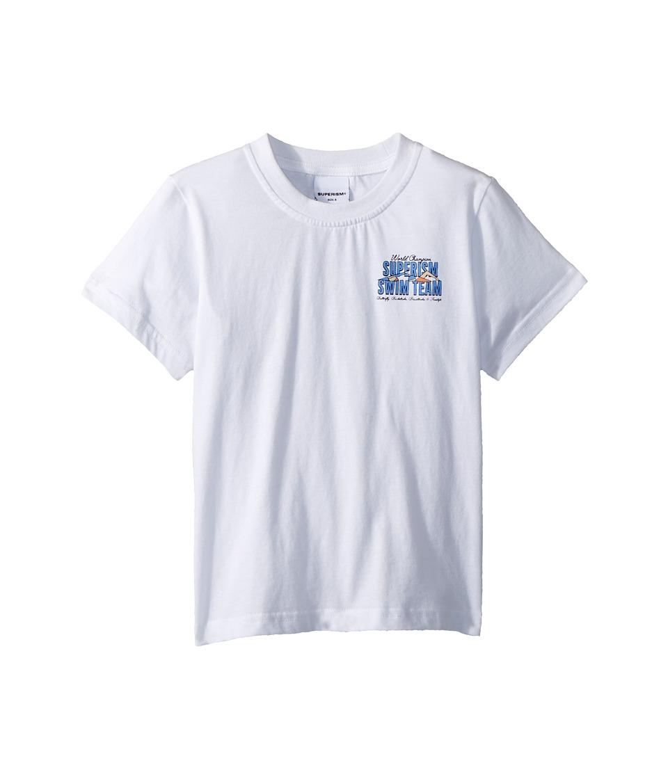 SUPERISM - Swim Team Champ Short Sleeve Tee (Toddler/Little Kids/Big Kids) (White) Boys T Shirt