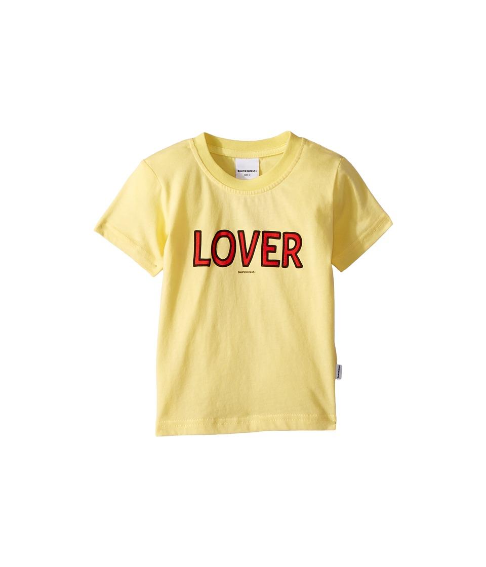 SUPERISM - Lover Short Sleeve Tee (Toddler/Little Kids/Big Kids) (Yellow) Boys T Shirt