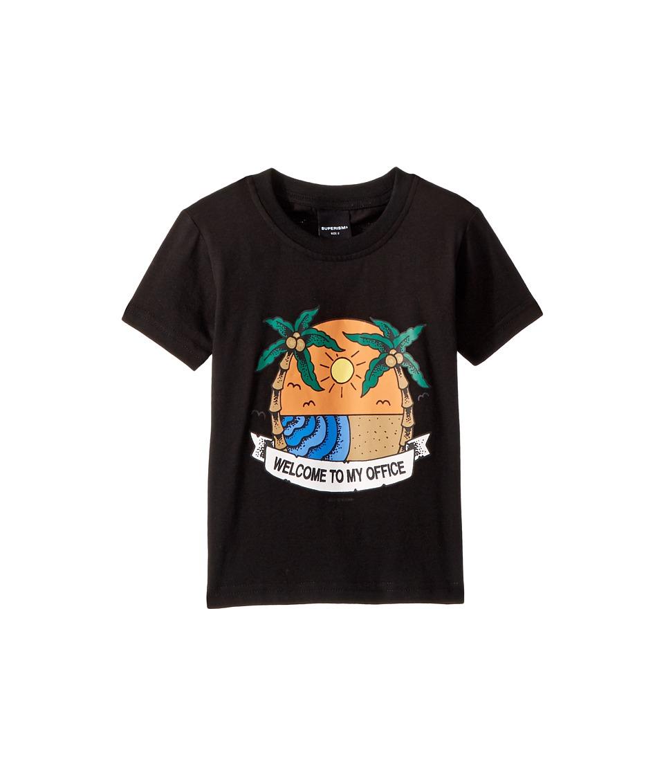 SUPERISM - Island Vacation Short Sleeve Tee (Toddler/Little Kids/Big Kids) (Black) Boys T Shirt