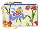 Tory Burch Robinson Floral Card Case Key Fob