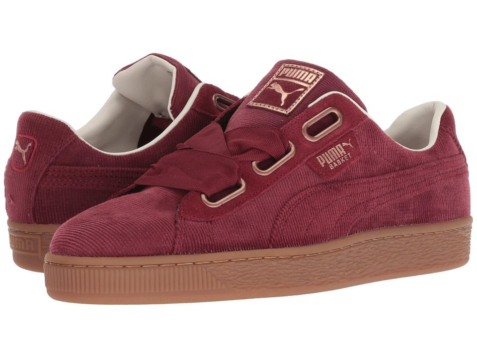 PUMA Basket Heart Corduroy (Pomegranate/Pomegranate) Women's Shoes