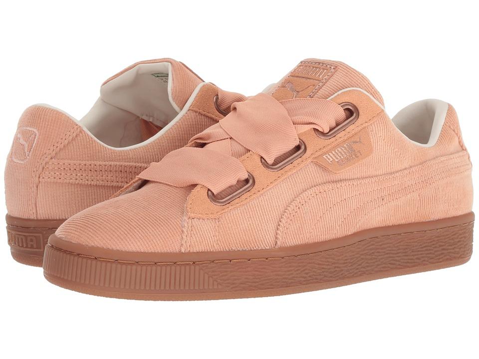 PUMA Basket Heart Corduroy (Dusty Coral/Dusty Coral) Women's Shoes