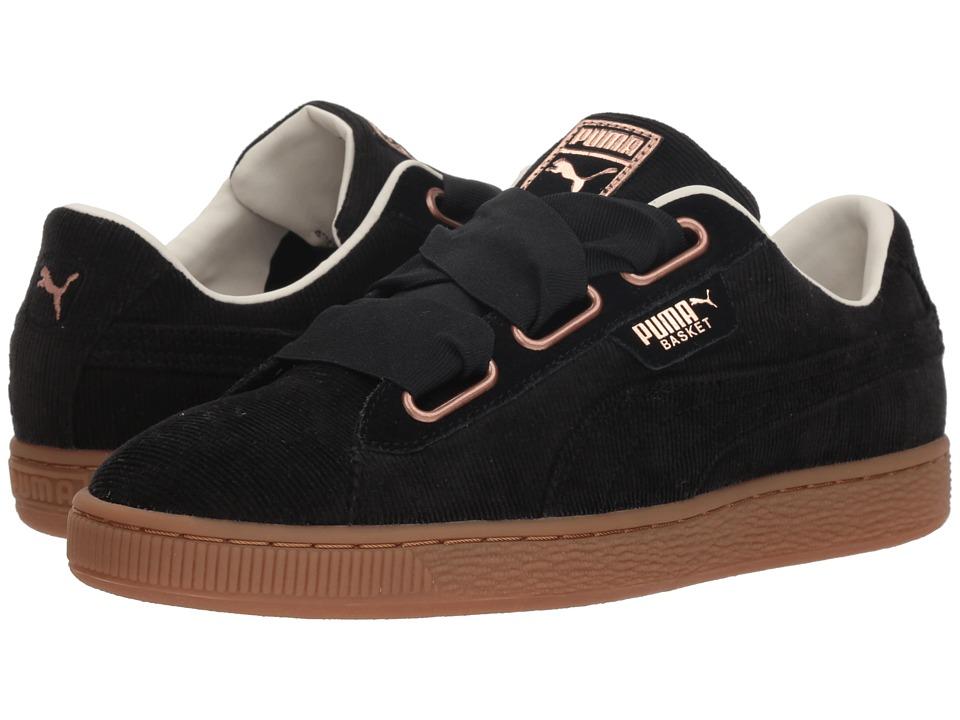 PUMA Basket Heart Corduroy (Puma Black/Puma Black) Women's Shoes