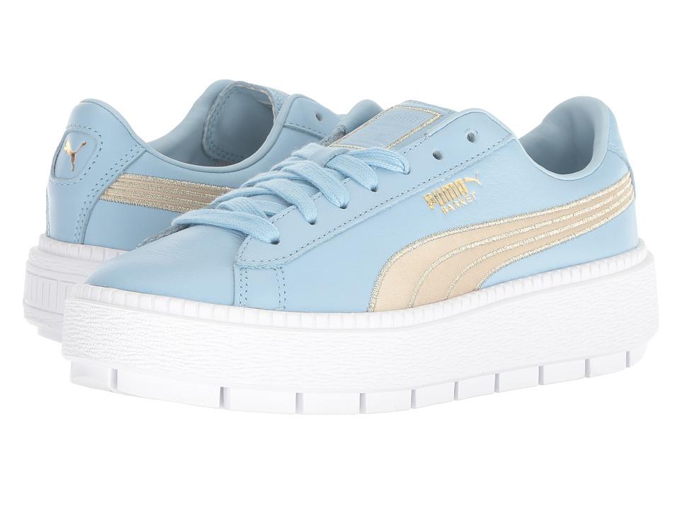 PUMA Platform Trace Varsity (Cerulean/Metallic Gold) Women's Shoes