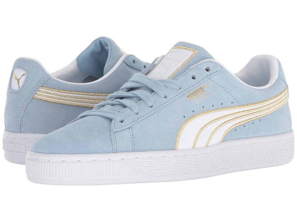 PUMA Suede Varsity (Cerulean/Puma White) Women's Shoes